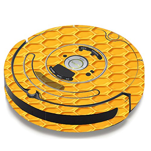 Skin Decal Vinyl Wrap For IRobot Roomba 650 655 Vacuum / Yellow Honeycomb