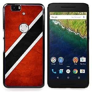 """Qstar Arte & diseño plástico duro Fundas Cover Cubre Hard Case Cover para Huawei Google Nexus 6P (Bandera nacional de la Serie-Trinidad y Tobago"""")"""
