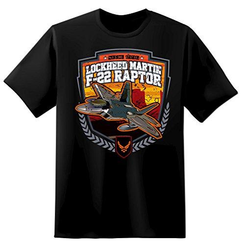 F 22 Lockheed Martin Raptor Mens T Shirt Xl Black