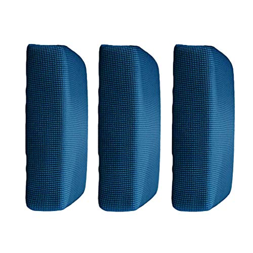 B Blesiya 3Pieces Blue_ S Elastic Sofa Futon Seat Bench Cushion Slip Cover Couch Slipcover Protector Replacement Garden Furniture from B Blesiya