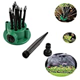 Hangang Lawn Sprinkler, Garden Water Sprinklers Lawn Irrigation System Covering Large Area with Leak Free Design Durable 12 Arm Sprayer, Easy Hose Connection