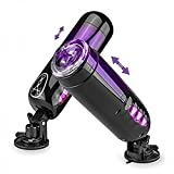 MATECam Male Masturbator cup Trainer Rotating and Thrusting Suction Cup Masturbator 10 Modes Vibration USB Rechargeable Artificial Vagina Sex Toys For Man