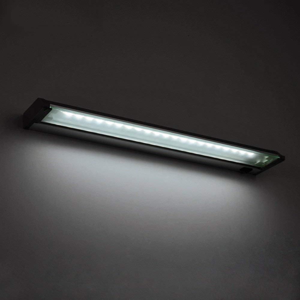 JQD Hauptbadezimmer-Spiegel-Scheinwerfer-Badezimmer-Beleuchtung-Aluminiumspiegel-Frontlicht führte Wasserdichte super helle Winkel-Justierbare Wand-Lampen-Birne, Spiegel-Scheinwerfer eingeschlossen