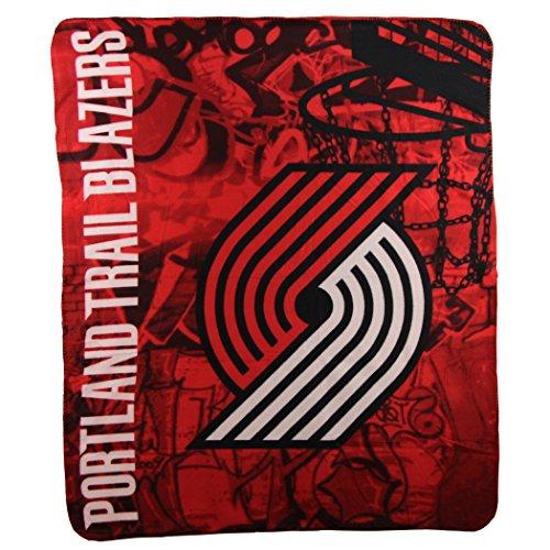 The Northwest Company NBA Portland Trailblazers Printed Fleece Throw, One Size, (Portland Trailblazers Throw)