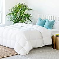 Linenspa All-Season Down Alternative Quilted Comforter - Multiple Colors - Corner Duvet Tabs - Hypoallergenic - Plush Microfiber Fill - Machine Washable - Duvet Insert Stand-Alone Comforter