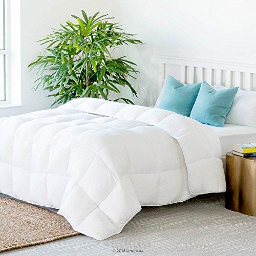 Linenspa All-Season Down Alternative Quilted Comforter - Hypoallergenic - Plush Microfiber Fill - Machine Washable...