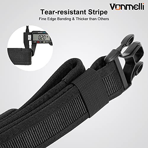 Nylon Tactical Heavy Duty Combat Belt Adjustable Security Police Army Military Outdoor Waist Belts Black, S