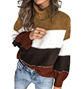 BLENCOT Women Winter Casual Loose Long Sleeve Knitted Tops Chunky Sweater Pullover Jumper