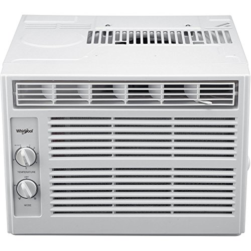 Whirlpool 5,000 BTU 115V Window-Mounted Air Conditioner with Mechanical Controls, White ()