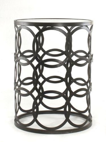 Cabinet End Round Table (InnerSpace Luxury Products Barrel Table with Circles)