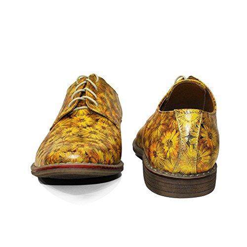 Lacer Cuir Souple Chaussures Sunflowero Cuir Handmade Vachette Modello Cuir Italiennes Hommes Oxfords pour des de Jaune wZFxq4t