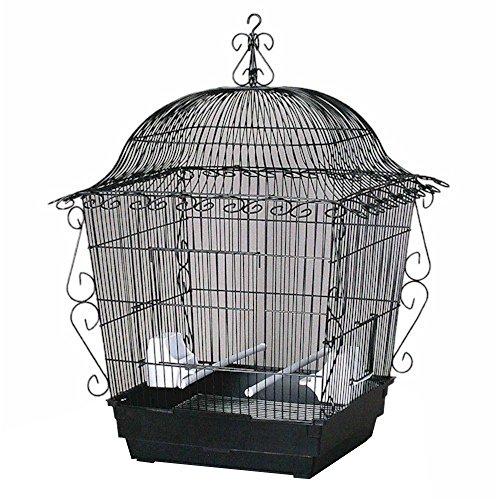 (Prevue Hendryx Elegant Vintage Scrollwork Decorative Large Front Door Bird Cage, Color - Black)