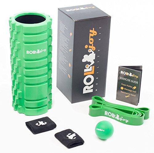 And More Resistance Band ROLLJOY High Quality Mobility Kit Foam Roller