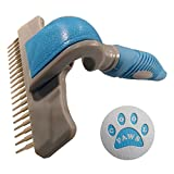 The Best New Design De-Shedding Rake With Three Comb Attachments, A Comfortable and Effective Grooming Experience Guaranteed, This Deshedder Will Not Scratch Your Pets Skin Unlike Other Deshedding Tools!! - Suitable for all Size of Pets. Free Instruction Leaflet Included. 100% Effective or Your Money Back.