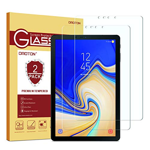 Samsung Galaxy Tab S4 Screen Protector [2 Pack], OMOTON Tempered Glass Screen Protector for Samsung Galaxy Tab S4 10.5 inch (SM-T830 / SM-T837 / SM-T835)