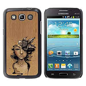 Paccase / SLIM PC / Aliminium Casa Carcasa Funda Case Cover - Art Deep Meaning Brown Painting - Samsung Galaxy Win I8550 I8552 Grand Quattro