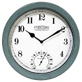 FirsTime Chatham 10.5-Inch Outdoor Wall Clock