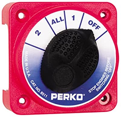 Perko 8511DP Compact Marine Battery Selector Switch