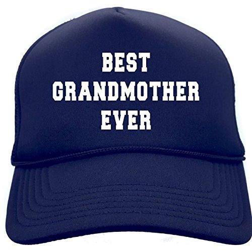 Diva Joy BEST GRANDMOTHER EVER Navy Retro Cap Foam Baseball Cap Trucker Hat (Best Grandma Womens Cap)