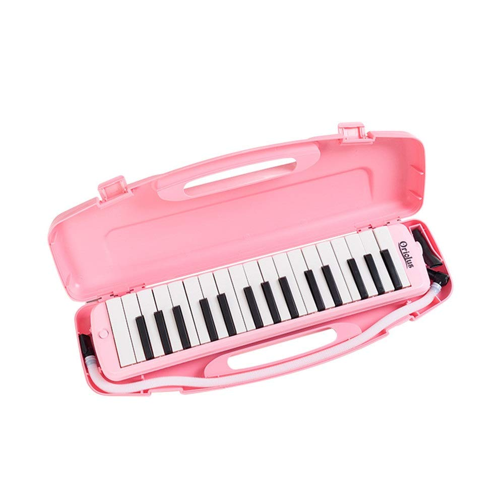 Melodica Musical Instrument 32 Keys Piano Keyboard Style Melodica With Portable Carrying Case Kids Musical Instrument Gift Toys For Music Lovers Beginners Mouthpieces Tube Sets Blue Pink for Music Lov by Shirleyle-MU (Image #7)