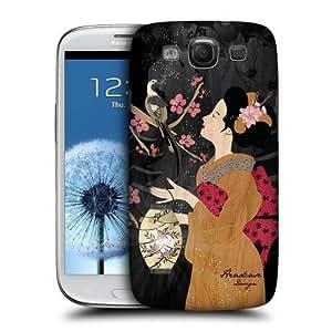 AIYAYA Samsung Case Designs Akira Geisha Protective Snap-on Hard Back Case Cover for Samsung Galaxy S3 III I9300