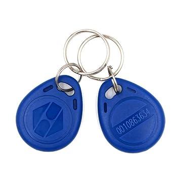 HFeng (paquete de 10) tarjeta llave de proximidad 125kHz RFID de control de acceso tk4100 em4100 Llaveros Llaveros Smart ID tarjeta llave para Puerta ...