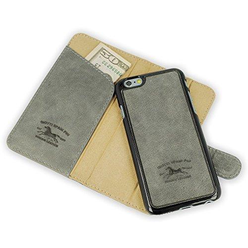 Qiotti Q.Book Smart Magic Raw 4.7 Folio Gris - Fundas para teléfonos móviles (Folio, Apple, iPhone 6, 11,9 cm (4.7), Gris)
