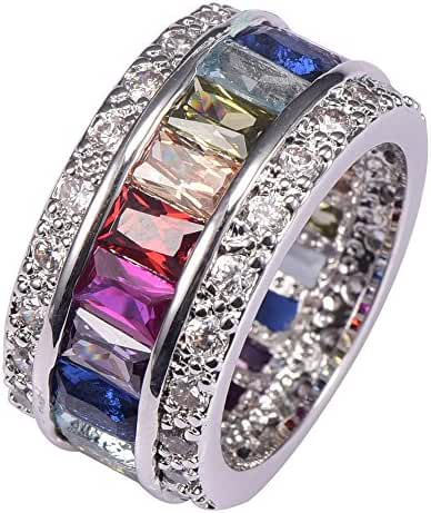 Weina Women's 925 Sterling Silver 11.98cttw Gemstone Filled Morganite Topaz Garnet Amethyst Ruby Aquamarine Ring