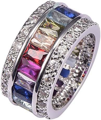 Weina Women's 925 Sterling Silver 11.98cttw Gemstone Filled Morganite Topaz Garnet Amethyst Ruby Aquamarine Ring