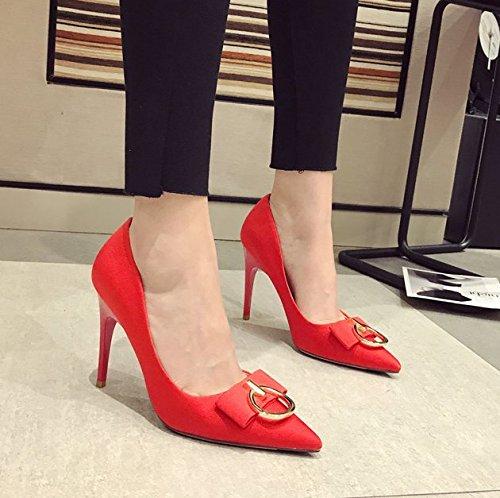 10Cm Zapatos De Solo Ocio Lady Elegante Trabajo Zapatos Tac Muelle MDRW wpfB1XAqn