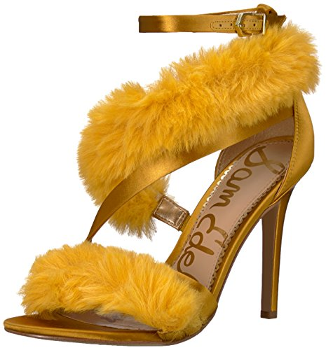 Yellow Dress Sandals (Sam Edelman Women's Adelle Heeled Sandal, Tuscan Yellow, 11 M US)