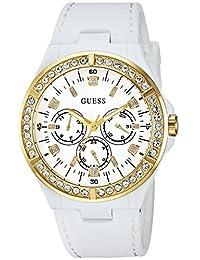 GUESS - Reloj casual de cuarzo para mujer de acero inoxidable y silicona 232cf6708745