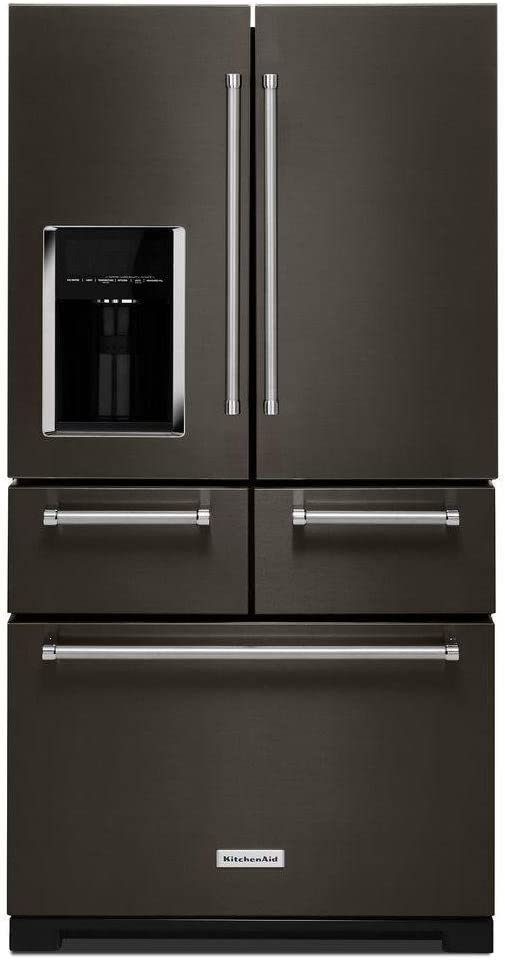 KitchenAid KRMF706EBS KRMF706EBS 25.8 Cu. Ft. Black Stainless Platinum  Interior French Door Refrigerator