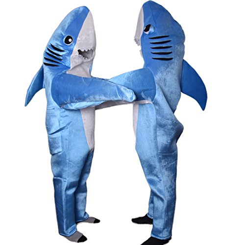 Adult Shark Costume Mascot Cosplay Halloween Unisex Animal Suit