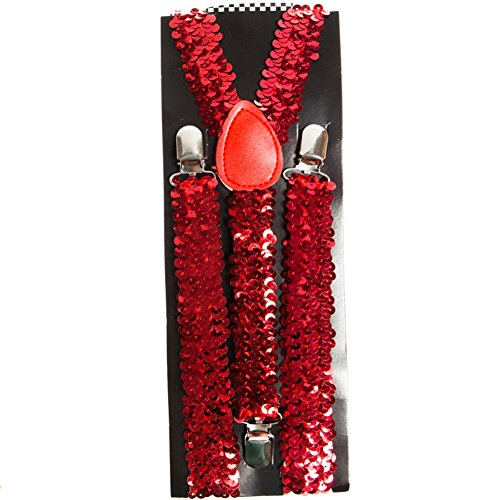 LeeMa Enterprises Co.. Red Sequin Suspenders -