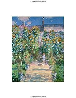 claude monet the artists garden at vetheuil notebook decorative notebook 70 sheet ruled 85 x 11