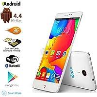 Indigi® Dual-Core 5.5 Indigi V13 Unlocked Android 4.4 Smart Cellphone 3G GPS Navigation Google Play Store Smart Wake -White-