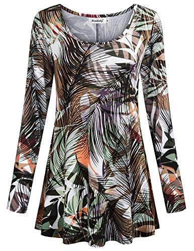 Dress Heart Tie Dye - Womens Tunic Tops,Ninedialy Lightweight Flare Waist Tunics for Women to Wear with Leggings Tie Dye Shirts Autumn Long Sleeves Mini Dress Zulily Denim Tunic,ArmyGreen Size S(US4-6)