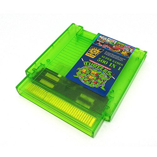 Price comparison product image 500 in 1 NES Super Games Multi Cart 72 Pin,  Transparent Green,  Limited Edition