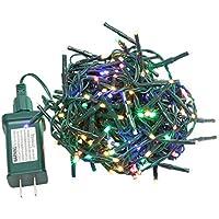 Nidenionled Peuled 19ft 200 Led Colored Garland Plug Led String Lights