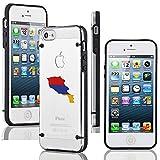 Apple iPhone 5 5s Transparent Clear Hard TPU Case Cover Armenia Armenian Flag (Black)