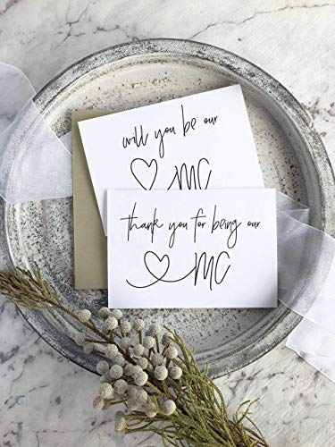 Will You MC and Thank You MC Wedding Day Card Set Black and White