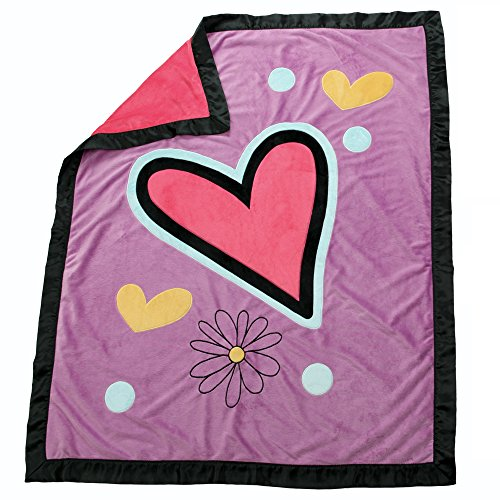 One Grace Place Sassy Shaylee Medium Quilt, Black, Pink and Purple ()