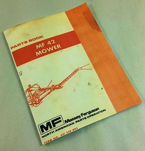 Massey Ferguson Mower Parts - Massey Ferguson Mf 42 Mower Bar Sickle Parts Book Manual Rear Mounted Part List