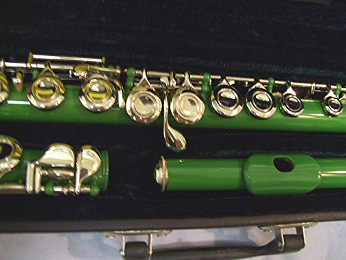 Red Flute with hard case, by Maestro