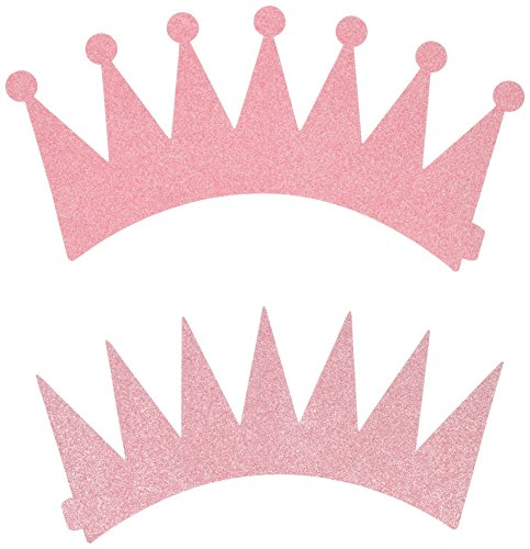 SIFAN 12 Piece Princess Party Crown, (Pink Crowns)