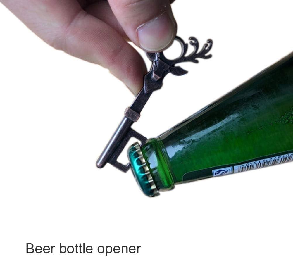 Christmas Bottle Opener Bottle Opener with Deer Head Massive Bottle Opener Keychain toolbar Simple Application Household