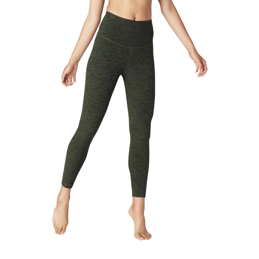 25ab195c0a9a32 Beyond Yoga Women's Spacedye Caught In The Midi High Waisted Legging  (Black/Aviator Green,L): Amazon.ca: Clothing & Accessories