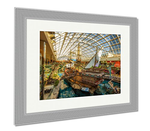 Ashley Framed Prints St Maria Pirate Vessel In The West Edmonton Mall, Wall Art Home Decoration, Color, 34x40 (frame size), Silver Frame, - 34 Mall St