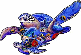 product image for SUNSOUT INC Swimming Lesson (sea Turtle Shape) 1000 pc Jigsaw Puzzle